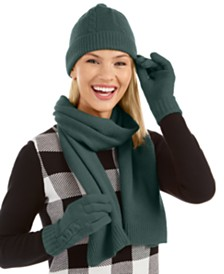 Charter Club 3-Pc. Cashmere Boxed Cable-Knit Set, Created For Macy's