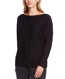 Embellished Dolman-Sleeve Sweater
