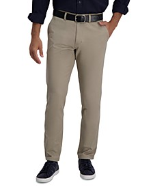 Men's Slim-Fit Motion Khaki Straight Flex Waistband Casual Pants