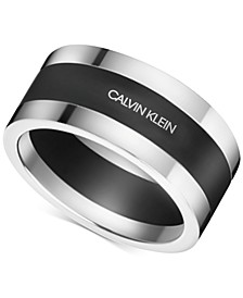 Men's Strong Stainless Steel and Black PVD Bi-Color Ring