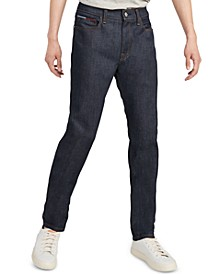Men's Athletic Fit Raw Rinse Jeans