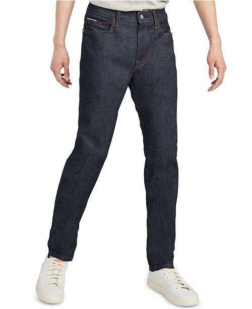 Tommy Hilfiger Men's Athletic Fit Raw Rinse Jeans