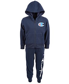 Toddler Boys 2-Pc. Fleece Zip-Up Hoodie & Jogger Pants Set