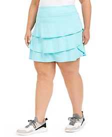 Plus Size Ruffled Skort, Created for Macy's