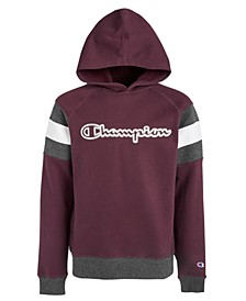 Big Boys Colorblocked Logo-Print Hoodie