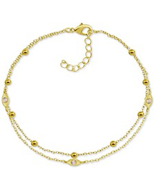 Two-Row Charm Anklet in Gold-Plate