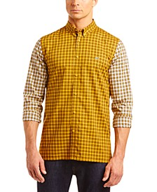 Men's Patchwork Checkered Color Block Shirt