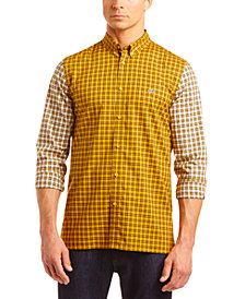 Lacoste Men's Patchwork Checkered Color Block Shirt