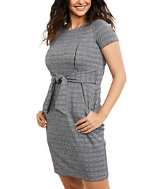 Maternity Jacquard Nursing Dress