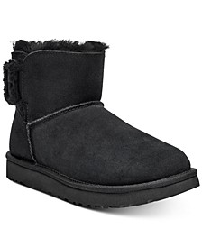 Women's Mini Bailey Fluff Buckle Boots, Created for Macy's