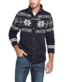 Men's Snowflake Cardigan Sweater