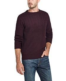 Men's Cable Yolk Sweater