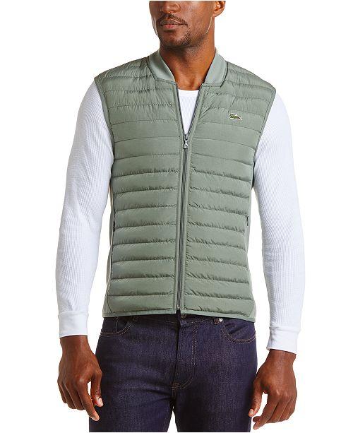 Lacoste Men's Bomber Puffer Vest