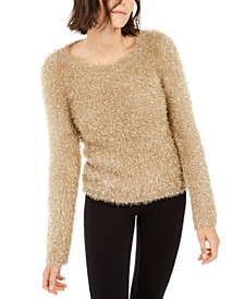 INC Metallic Eyelash-Knit Sweater, Created For Macy's