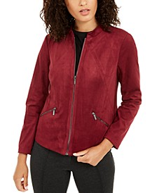 Faux-Suede Jacket, Created For Macy's