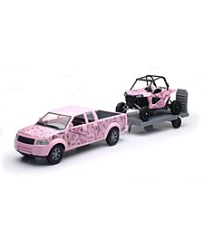 New Ray Camo Pickup Truck with Pink Camo Polaris Razor