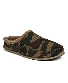 DEER STAGS Slipperooz Men's Nordic S.U.P.R.O. Sock Cushioned Indoor Outdoor Clog Slipper