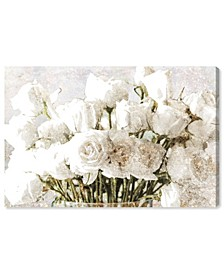 Rose Gold Luxe Bouquet Canvas Art Collection
