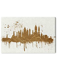 Gold NY Skyline Canvas Art Collection