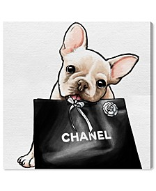 "20878 Frenchie Glam Canvas Art - 16"" x 16"" x 1.5"""