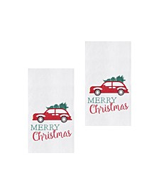 Holiday Car Kitchen Towel, Set of 2
