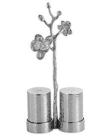 White Orchid Salt and Pepper Shakers