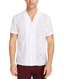 INC Men's Flocked Camp Shirt, Created for Macy's