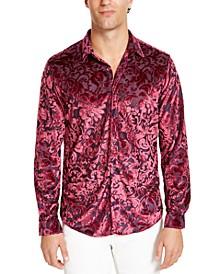 INC Men's Dion Velvet Shirt, Created For Macy's