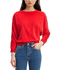 Women's Velour Dolman-Sleeve Top