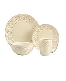 Bianca Cream 16 Pc Dinnerware Set