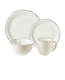 Madelyn White 16 Pc Dinnerware Set