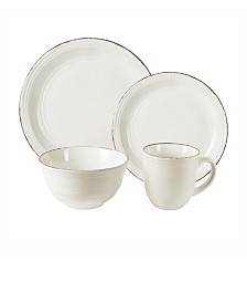 Jay Imports Madelyn White 16 Pc Dinnerware Set