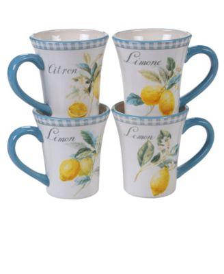 Citron 4-Pc. Mug asst.