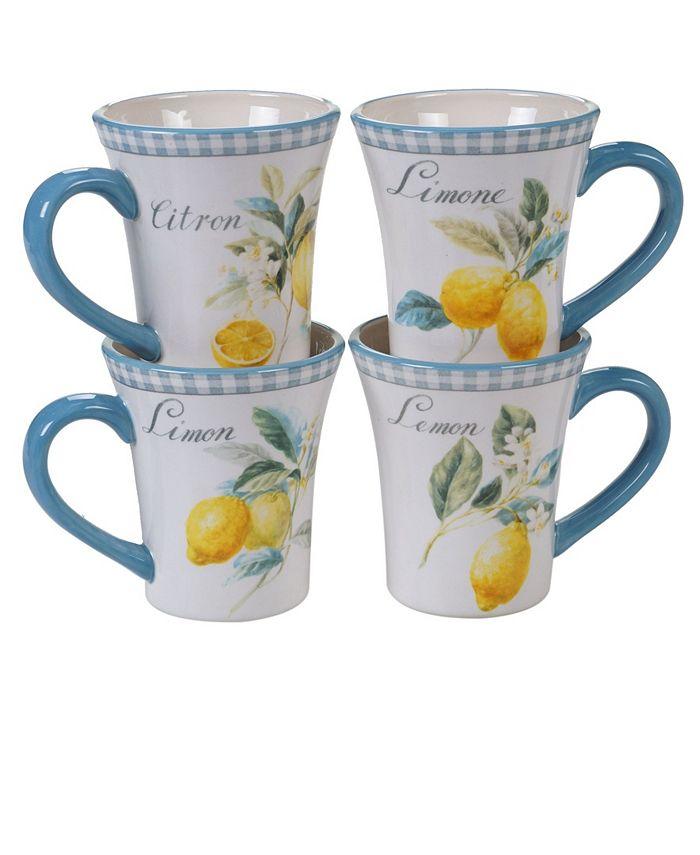 Certified International - Citron 4-Pc. Mug asst.