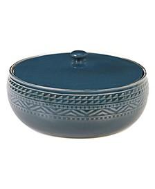 Aztec Teal Bean Pot