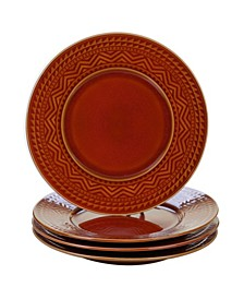 Aztec Rust 4-Pc. Dinner Plates