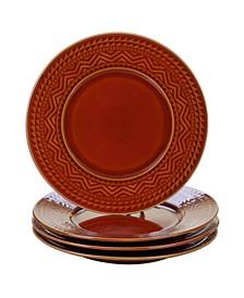 Aztec Rust 4-Pc. Dinner Plates