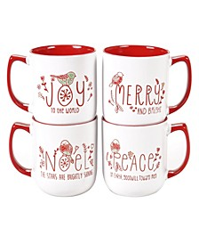 Holly Jolly 4-Pc. Mugs