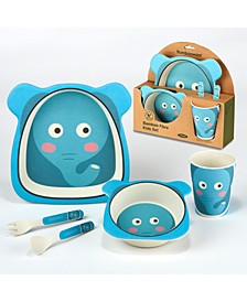 Elephant Eco Friendly Bamboo Fiber 5-Pc. Kids Dinnerware Set