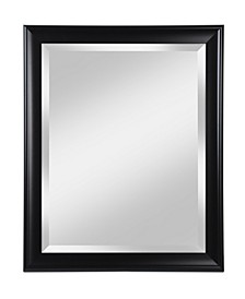 "Alpine Symphony 28"" x 34"" Black Beveled Wall Mirror"