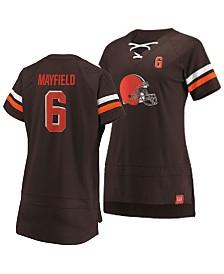 Majestic Women's Baker Mayfield Cleveland Browns Draft Him T-Shirt 2019