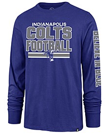 Men's Indianapolis Colts Dub Stack Super Rival Long Sleeve T-Shirt