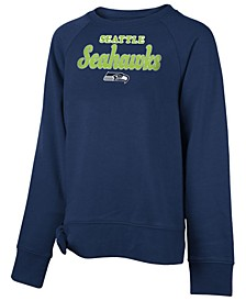 Big Girls Seattle Seahawks Tie Fleece Pullover