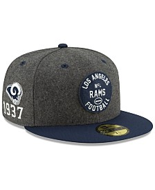 New Era Boys' Los Angeles Rams On-Field Sideline Home 59FIFTY-FITTED Cap