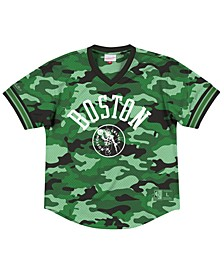 Men's Boston Celtics Camo Mesh V-Neck Jersey Top