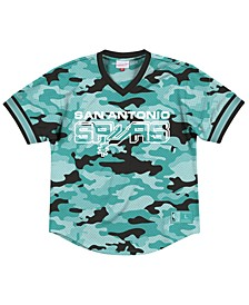 Men's San Antonio Spurs Camo Mesh V-Neck Jersey Top
