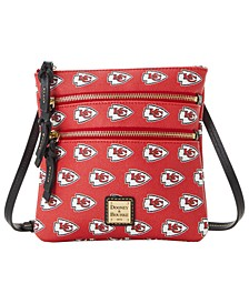 Kansas City Chiefs Saffiano Triple Zip Crossbody