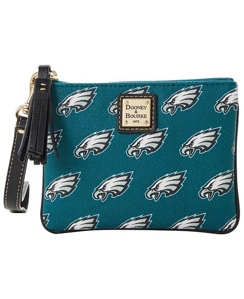 Dooney & Bourke Philadelphia Eagles Saffiano Stadium Wristlet