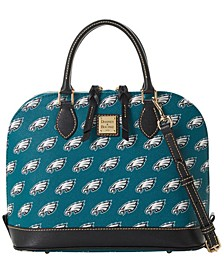 Philadelphia Eagles Saffiano Zip Satchel