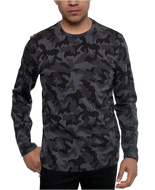 Kenneth Cole Men's Camo Print Sweater